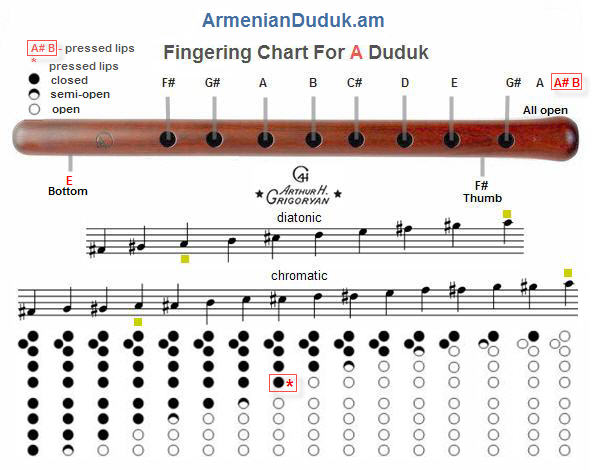 Fingering Chart For A Duduk